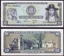 Peru 50 Soles De Oro 1977 UNC - Pérou