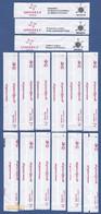 Uniself Portugal 2018 - ASProCivil, Incêndios / Série Complète 12 Sachets Vides (Série Avec Variantes) - Sucres