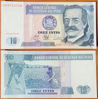Peru 10 Intis 1987 UNC - Pérou
