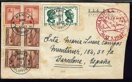 "PHILIPPINES - Vol Manila Madrid Via Pal - Cachet Flight 3 May 1947 - Lot Réservé Au Pseudo ""Jlgojmg"" - Filippine"