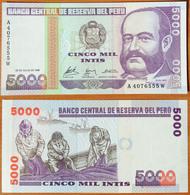 Peru 5000 Intis 1988 UNC - Pérou