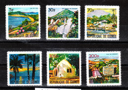 Guinea - 1967. Vedute Di Guinea: Los Island, Tinkisso Falls, Capitale Conakry, Complete MNH Series - Geografia