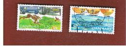 DANIMARCA (DENMARK)  -   SG 980.981  -  1992 ENVIROMENTAL PROTECTION   - USED ° - Danimarca