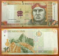 Peru 10 Nuevos Soles 2009 VF - Pérou