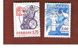DANIMARCA (DENMARK)  -   SG 987.989  -  1992  DANISH CARTOONS  - USED ° - Danimarca