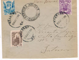 España. Carta Circulada En El Interior De Granada Con Sellos Locales Y Del Estado Españolo - 1931-Hoy: 2ª República - ... Juan Carlos I