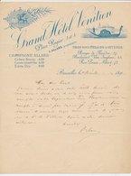 Factuur / Brief  Bruxelles / Brussel 1894 - Grand Hotel Venitien - Venice - Gondola - België
