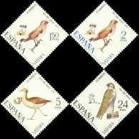 Sahara 293/96 ** Fauna. Aves . 1971 - Sahara Español
