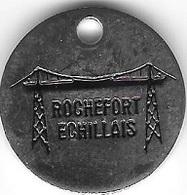 Jeton De Caddie  Argenté  Ville  ROCHEFORT  ECHILLAIS  Verso  Pont  Transporteur ( 17 ) - Jetons De Caddies