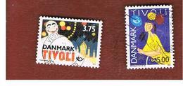 DANIMARCA (DENMARK)  -   SG 1002.1003  -  1993  NORDEN: POSTERS FOR TIVOLI GARDENS (COMPLET SET OF 2)  - USED ° - Usati