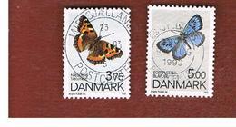 DANIMARCA (DENMARK)  -   SG 996.997  -  1993  BUTTERFLIES  - USED ° - Usati