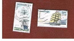 DANIMARCA (DENMARK)  -   SG 1004.1006  -  1993  TRAINING SHIPS - USED ° - Usati