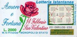 B 2354 - Gratta E Vinci, Amore E Fortuna. San Valentino - Lottery Tickets