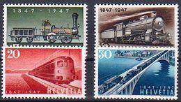 Schweiz Suisse Svizzera Suiza 1947: Eisenbahn Chemin De Fer Zu 277-280 Mi 484-487 Yv 441-444 ** MNH (Zumstein CHF 6.00) - Trains