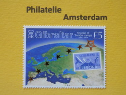 Gibraltar 2005, 50 YEARS EUROPA CEPT 1956-2006 / STAMPS ON STAMPS, Mi 1138, ** - 2006