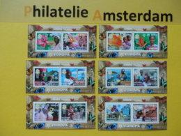 Guinea 2006, 50 YEARS EUROPA CEPT 1956-2006 / FAUNA, Mi 4202-13, Type A, Bl. 915-20** - Europa-CEPT
