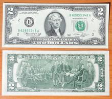 USA 2 Dollars 1976 B UNC - Billets De La Federal Reserve (1928-...)