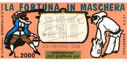 B 2355 - Gratta E Vinci, La Fortuna In Maschera. Carnevale - Lottery Tickets