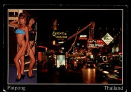 C362 THAILAND - BANGKOK - PATPONG BY NIGHT WITH QUEEN'S CASTLE BAR NIGHTLIFE PIN UP SEXY NUDE FEMME WOMAN - Tailandia