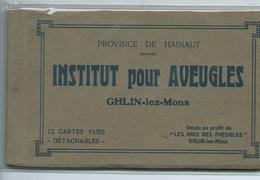 Ghlin Institut Pour Aveugles Carnet De 12 Cartes - Mons