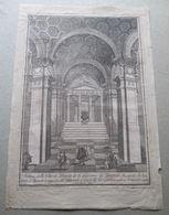 1789 FUNERALI CARLO III DI BORBONE  NELLA CHIESA DI S. GIOVANNI DEI SPAGNOLI 17 AGOSTO INC. - Litografia
