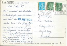 ESPAÑA CANARIAS LAS PALMAS ENVIADA DESDE EL BUQUE PAQUEBOT FS METEOR - 1931-Hoy: 2ª República - ... Juan Carlos I