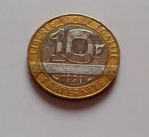 France, Génie, 10 Francs, 1990,  Bi-Metallic, (B5 - 10) - France