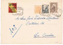 España. Carta Circulada Por Correo Certificado De Granada A La Coruña - 1931-Hoy: 2ª República - ... Juan Carlos I