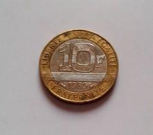 France, Génie, 10 Francs, 1989,  Bi-Metallic, (B5 - 10) - France