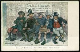 Ref 1258 - 1903 Postcard - Arthur Moreland Political Politics Postcard Brexit Implications - London Underground Message - Satirical