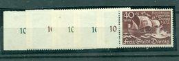 Danzig Schiffe Nr. 284 - 288 Postfrisch ** - Danzig