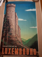 OUDE AFFICHE 1950-1965, GRAND DUCHE DU LUXEMBOURG,  (+/- 99x60cm), ILLUSTRATEUR PE'L - Affiches