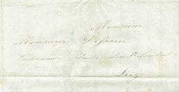 Précursor 30/9/1847 ONZE-LIEVE-VROUW-WAVER - Brief Door Koerier  Naar LIEGE - Getekend Mère Marie Antoinette - 1830-1849 (Belgique Indépendante)