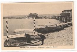 ARONA - LAGO MAGGIORE - IMBARCADERO E CANTIERI BATTELLI - NOVARA - Novara