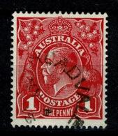Ref 1258 - 1915 Australia KGV 1d Head Used Stamp - Scarce Road Vale Queensland Postmark - 1913-36 George V: Heads