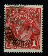 Ref 1258 - 1915 Australia KGV 1d Head Used Stamp - Scarce Chinchilla Queensland Postmark - 1913-36 George V: Heads
