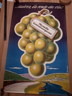 OUDE AFFICHE 1950-1965, GRAND DUCHE DU LUXEMBOURG, SUIVEZ LA ROUTE DE VIN, MOSELLE LUXEMB  (+/- 99x60cm), ILLUSTRATEUR ? - Affiches