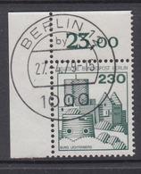 Berlin 590 Eckrand Links Oben Burgen + Schlösser 230 Pf Gestempelt Ohne Gummi - Berlin (West)