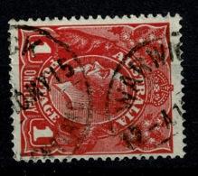 Ref 1258 - 1915 Australia KGV 1d Head Used Stamp - Uncommon Warwick Queensland Postmark - 1913-36 George V: Heads