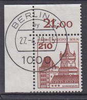 Berlin 589 Eckrand Links Oben Burgen+Schlösser 210 Pf Gestempelt Ohne Gummi - Berlin (West)