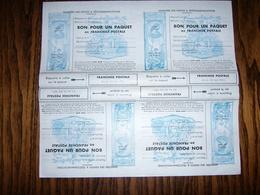Feuille De 4 Timbres De Franchise Militaire Pour Colis N° 14   Forte Côte - Franchise Stamps