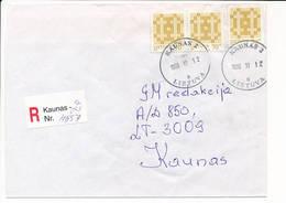 Registered Commercial Cover / Postal Label - 12 November 1999 Kaunas 2 - Lithuania