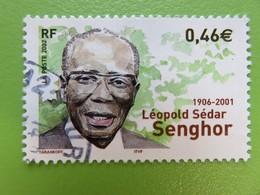 Timbre France YT 3537 - Premier Anniversaire Mort Léopold Sédar Senghor - Portrait - 2002 - France