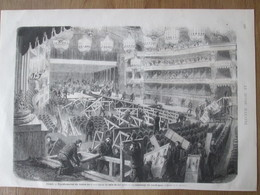 Gravure  1872  Paris Transformation  Du Théatre   Du Grand-Opéra  En Salle De Bal  Après Mardi-Gras - Vieux Papiers