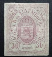 Luxemburg 1859   Nr. 9   (*)  Zonder Gom      CW  280,00 - 1859-1880 Armoiries