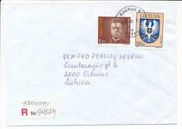 Registered Commercial Cover - 21 December 1996 Kaunas 5 - Lithuania