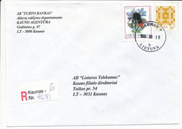Registered Commercial Cover / Bumble Bee Bombus Pomorum Panzer Insect - 16 September 1999 Kaunas 6 - Lithuania