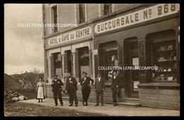 TOP TUCQUENIEUX - HOTEL CAFE DU CENTRE ET COMPTOIRS FRANCAIS RUE LORIS BATIGNANI VERS 1910 ( BAR COMMERCE COMPTOIR ) - Other Municipalities