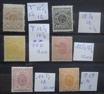 Luxemburg 1875 - 80   Nr. 36  Postfris ** +   37 B - 38 B - 39 B - 40 B En 44 C  Scharnier *   Zie Foto - 1859-1880 Coat Of Arms