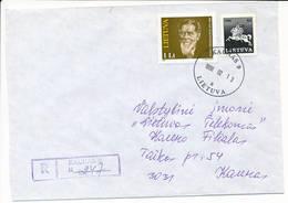 Registered Commercial Cover / Art Painter Antanas Žmuidzinavičius - 13 February 1996 Kaunas 9 - Lithuania